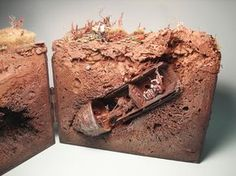 Diorama. reminds me how obsessed I was with making underground rabbit houses