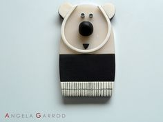 """ The Children's Collection "" ----Pendant ---- Bear------Polymer Clay and Aluminium"