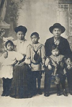 +~+~ Antique Photograph ~+~+ Chin Quan Chan Family, application to Re-enter the United States.