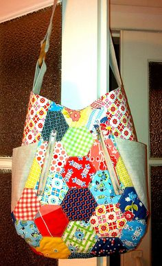 241 tote with hexagons