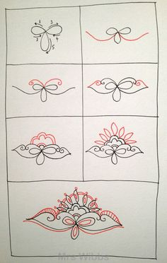 Mo~Zentangle... would be a great henna design