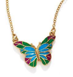 Spring Garden Reversible Butterfly Necklace. Shop online at tashina.avonrepresentative.com