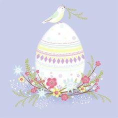 Sophie Hanton - Sophie Hanton - Easter Egg In Nest With Bird SEH1345