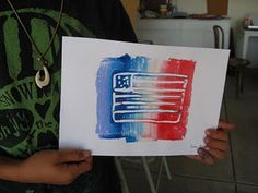 Cool printmaking project for kids