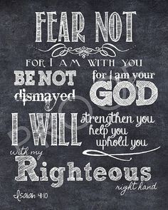 Mounted Scripture Art 16x20  Isaiah 4110 by ToSuchAsThese on Etsy, $45.00