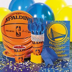 NBA® Golden State Warriors™ Party Supplies` - OrientalTrading.com