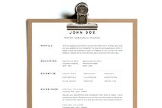 Simple Resume Template | Design 1 by Foundry Stationary on @creativemarket More