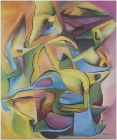"""Silvie Kreiselová """"Po zlatém dešti"""" Olej na plátně 50x70."""