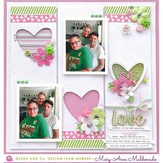 Who says boy projects can't be pink? Our Heart Throb Shaker Kit works for everyone and everything!! @maryannmaldonado combined pink and green embellishments to highlight the love in her family. ... ... ... ... #queenandcompany #queenandcompanydt #queenandco #embellishments #cardmaking #papercrafts #scrapbooking #card #bling #cardembellishments #scrapbookingembellishments #shakerkit #shakerset #toppings #shakercard #shaker #shakerlayout