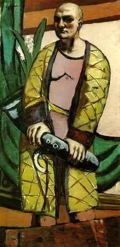 Max Beckmann, Self-Portrait with Saxophone, 1930