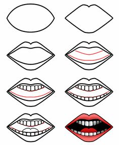 How to draw a mouth... good to know. Now maybe I can improve my stick person drawings. lol.