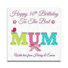 Handmade Personalised Ladies Mum Sister Nanny Gran Nan Niece Birthday Card