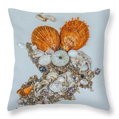 "Orange Threesome Throw Pillow 14"" x 14"""