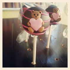 Pink chocolate bear valentine cakepop