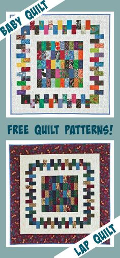 DOUBLE Friday Free Quilt Patterns: Brick a Brack Lap AND Baby Quilt Patterns