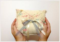 Shabby chic wedding burlap linen and pastel floral by noavider, $32.00