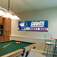 New York Giants Party Here 2' x 6' Vinyl Banner  #UltimateTailgate #Fanatics
