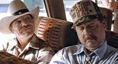 Cowboys steal Victor and Thomas' seats on the bus. Smoke Signals, John Wayne, Coming Of Age, Cowboys, Native American, Captain Hat, Hats, Movies, John Wayne Gacy
