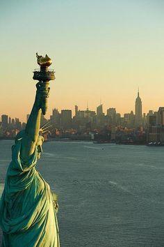 NYC ~ Statue of Liberty. Sunrise
