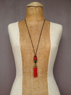 Red Coral And Turquoise Necklace With Red by TheFreezingSquirrel, $69.00