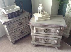 Bedside tables by Lee.Marie Antiqued Furniture on Facebook