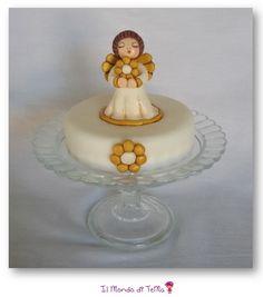 Tutorial facilissimo per fare un perfetto angelo Thun in pasta di zucchero e decorare le vostre torte per Battesimo, Comunione e Natale.