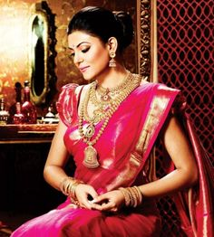 With the gorgeous jhumkas and very ethnic neckpieces, Sushmita Sen makes a stunning Indian bride