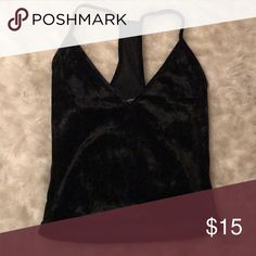 Gorgeous black velvet tank Unworn, new with tags, perfect for going out Tops Tank Tops