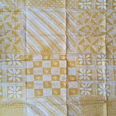 African Fabric Yellow Batik Hand-dyed Tie Dye Fabric by Urbanstax