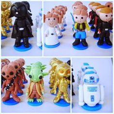 Lembrancinha e topo de bolo - Biscuit Making Of : Star Wars aplique de biscuit…