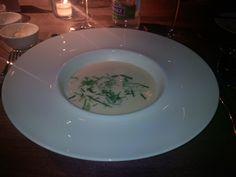Celery cream with truffle butter @ 7th HSG Alumni Conference Gala Dinner @ KKL Lucerne