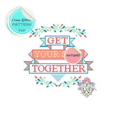 MATURE Get Your Sh-t Together Typography by plasticlittlecovers