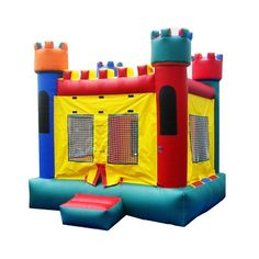 Commercial Castle 1 Bounce House at YardKid #commercialinflatables #bouncehouse #freeship