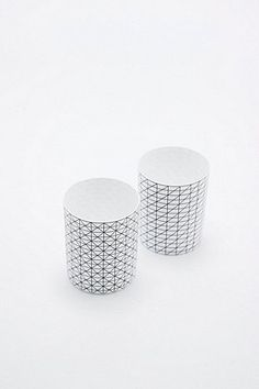 Geo T-Light Holder Set in Black and White - Urban Outfitters
