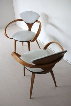 The Design Walker • Norman Cherner Plycraft Walnut Chair: Cherner...