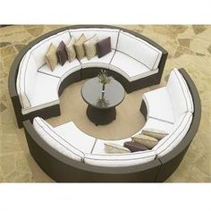 North Cape Melrose Outdoor Patio Circle Sectional by North Cape International. $6466.24. The North Cape Melrose circle patio sectional is perfect for creating a relaxing outdoor area for your home. This modular patio sectional includes four quarter round sofas and one round conversation table with glass top.