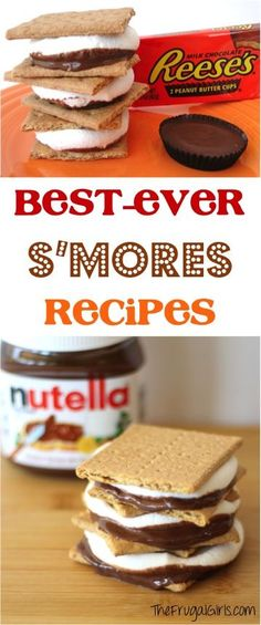 Planning a Camping Trip? Or just want to enjoy some delicious gooey goodness at your backyard firepit? You're going to fall in LOVE with these delicious twists on a classic treat ~ the Best S'More. Camping Desserts, Köstliche Desserts, Delicious Desserts, Dessert Recipes, Yummy Food, Tasty, Fire Pit Desserts, Camping Meals, Graham Crackers
