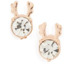 Women's Topshop Crystal Reindeer Stud Earrings ($14) ❤ liked on Polyvore featuring jewelry, earrings, gold, evening earrings, holiday earrings, crystal earrings, crystal stone jewelry and evening jewelry