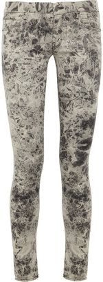 ShopStyle: Mother The Looker tie dye-print skinny jeans