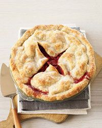 Deep-Dish Strawberry-Rhubarb Pie -  The dough can be made with just butter, but swapping in some lard yields an even flakier crust. As for the filling, cornstarch is great for juicy fruit pies.