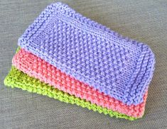Healthy Body and Happy Wallet: Seed Stitch Dishcloths