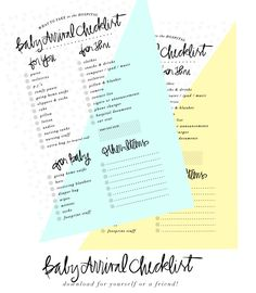 Baby Arrival Checklist- What to take to the hospital - awesome printable!