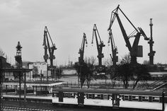 Gdansk Shipyard Gdansk Poland, Desktop Backgrounds, Archaeology, San Francisco Skyline, Tractors, Renaissance, Paris Skyline, Aesthetics, Sketch