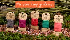 Giveaway alert!  Hemp Craft Supplies from Hemptique: Review and Giveaway!