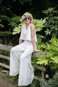 combi mariée babacool MAISON TESSON Jessica Parker, Carrie Bradshaw, Designer, Marie, Jumpsuit, Wedding, Dresses, Album Photo, Costumes