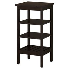 IKEA - HEMNES, Shelving unit, black-brown stain, , The open shelves give an easy overview and easy reach.