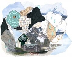 Glacier // 8 x 10 eco-friendly wall art mountains print by CathyMcMurray on Etsy https://www.etsy.com/ca/listing/71844776/glacier-8-x-10-eco-friendly-wall-art