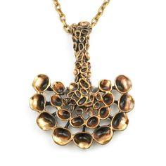 "finland-scandi-jewelry: Hannu Ikonen for Valo-Koru, Big ""Reindeer Moss"" bronze pendant, Modern Jewelry, Jewelry Art, Vintage Jewelry, Jewelry Design, Jewellery, Silver Necklaces, Jewelry Necklaces, Gold Necklace, Pendant Necklace"