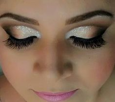 Loving the glitter eye shadow :)