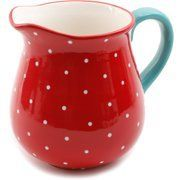 Shopping The Pioneer Woman Retro Dot Ceramic Pitcher Image 2 of 2 Kids and money guide As Pioneer Woman Dishes, Pioneer Woman Kitchen, Pioneer Woman Recipes, Pioneer Women, The Pioneer Woman, Kitchen Layout, Kitchen Decor, Kitchen Stuff, Kitchen Ideas